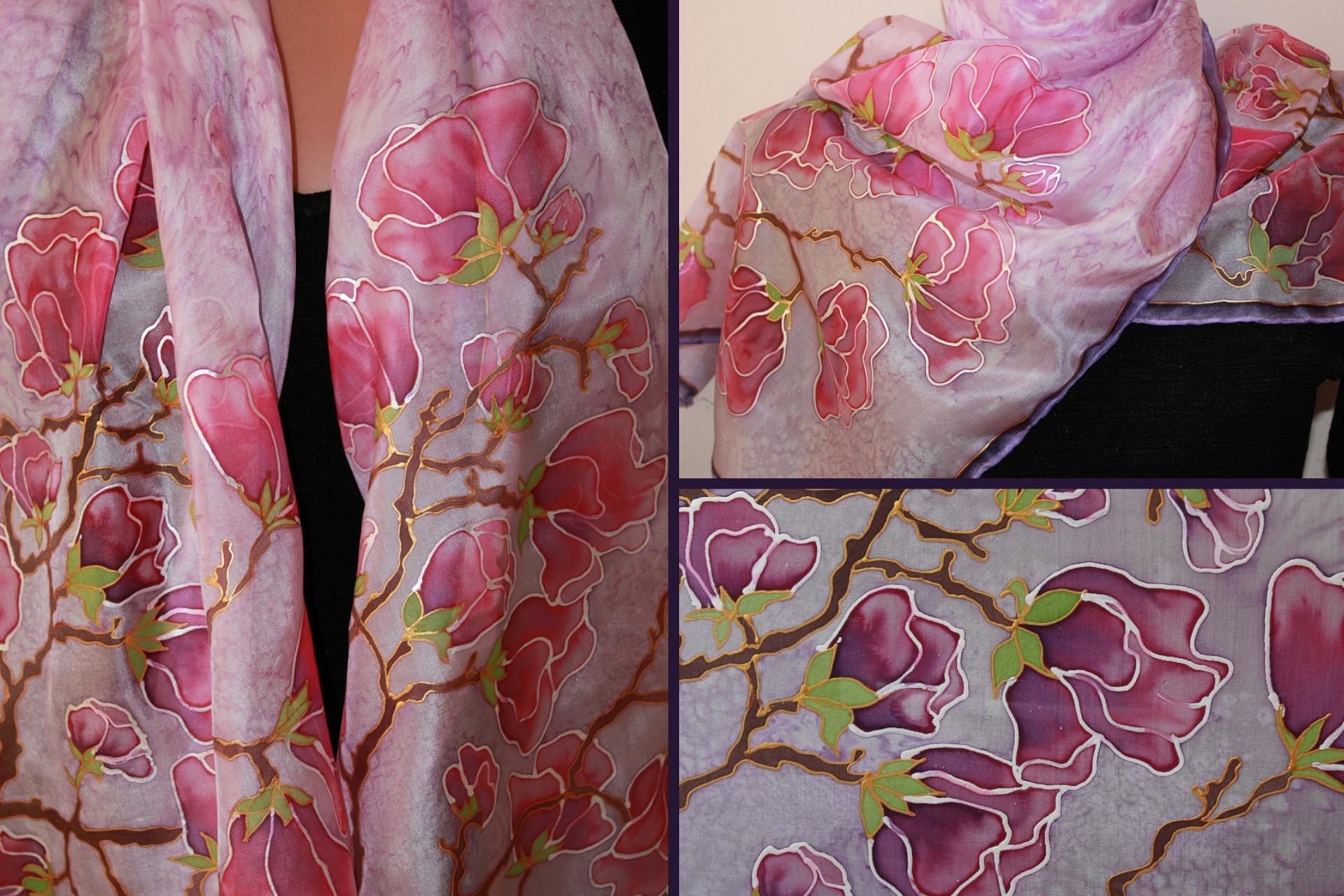 Hodvábny šál alebo vankúšik – maľovanie na hodváb