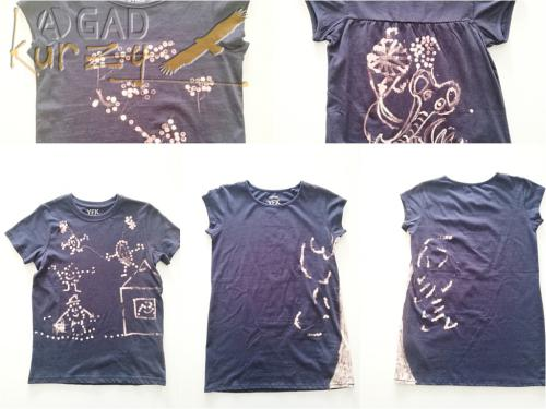 "Tričko - maľovanie textilu / ""modrotlač"""